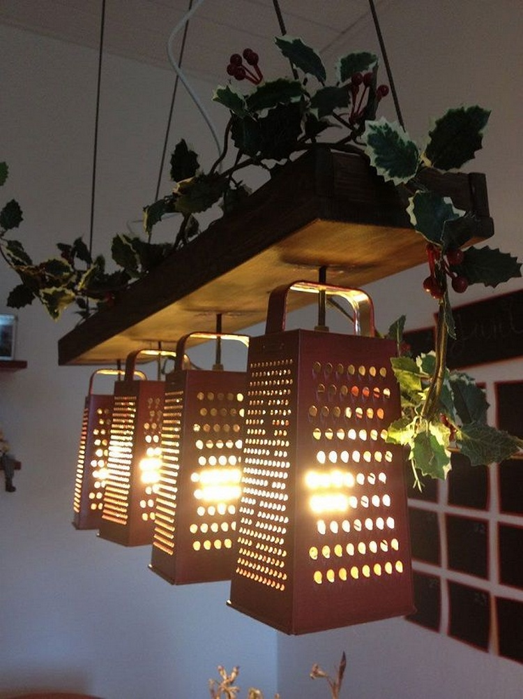 Lamp Made Out Of Recycled Graters