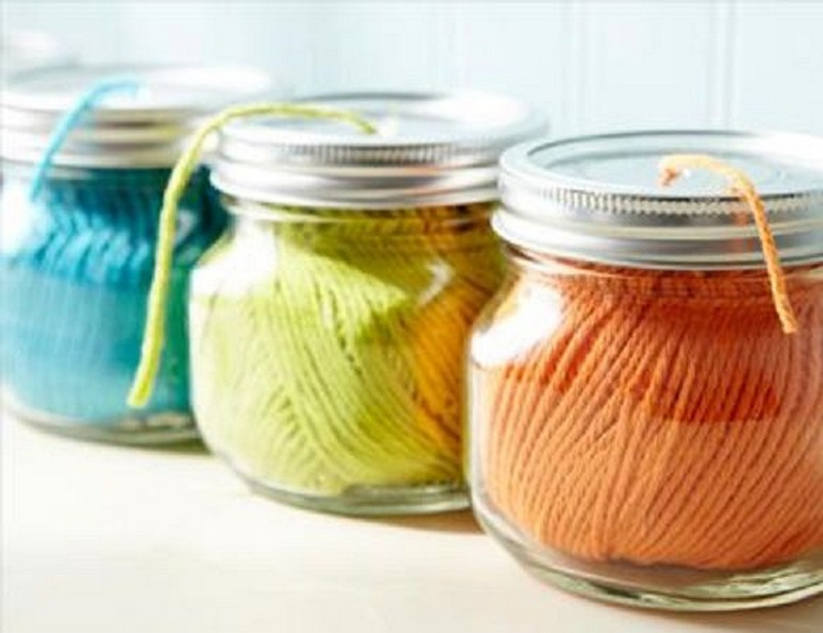 Mason Jar Yarn Holder and Dispenser