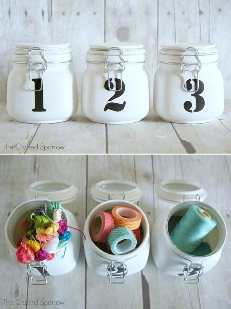 Numbered Mason Jars