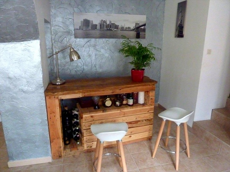 Pallet Bar and Study Table