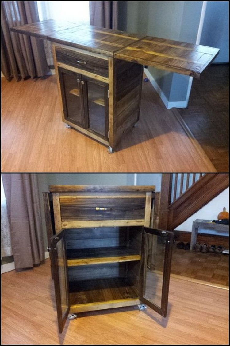 Pallet Kitchen Cart
