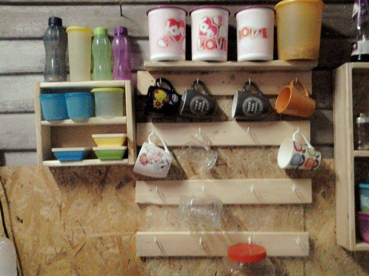 Pallet Kitchen Shelf and Racking