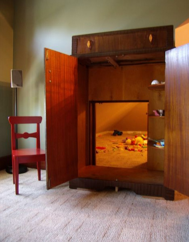 Real-Life Secret Playroom Through a Narnia-Like Wardrobe
