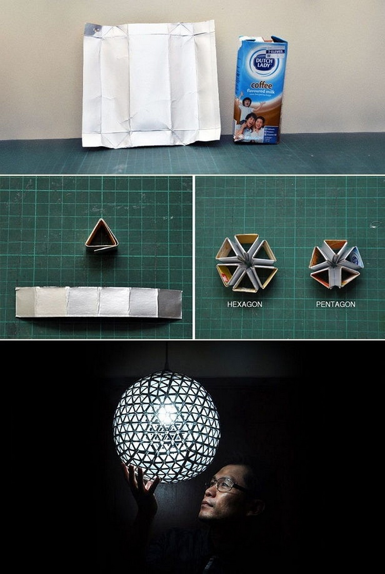 Recycled TetraBox Lamp