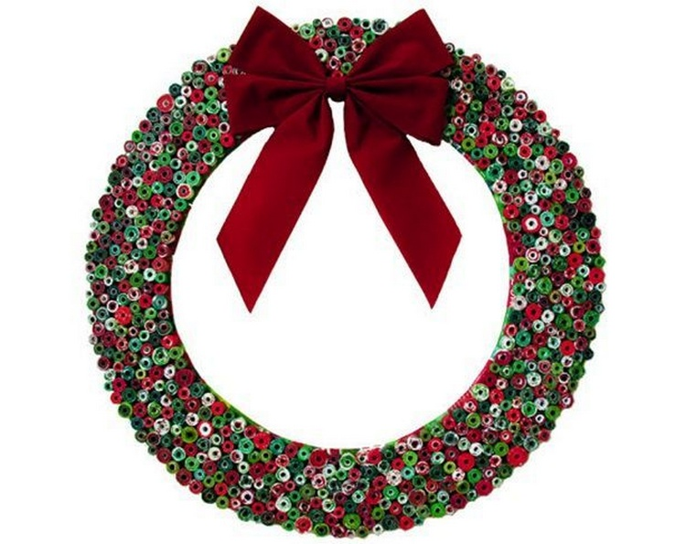 Repurpose Magazine Christmas Wreath