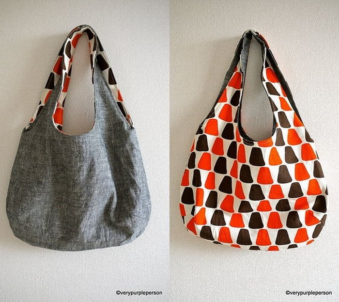 Reversible Denim Bag