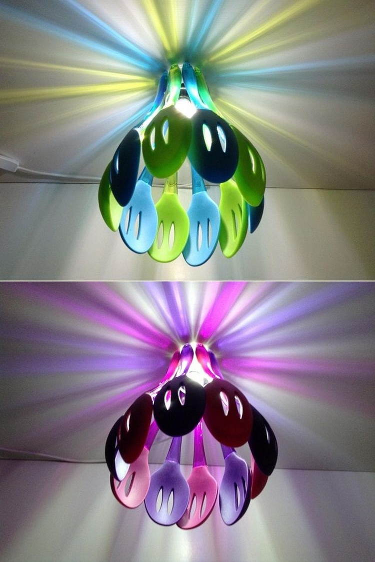 Silicon Slotted Spoon Lamp