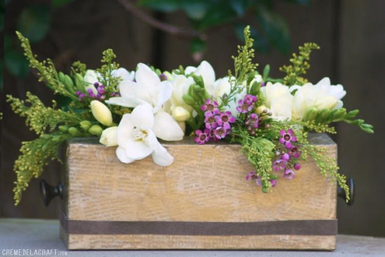 Tissue Box Flower Vase