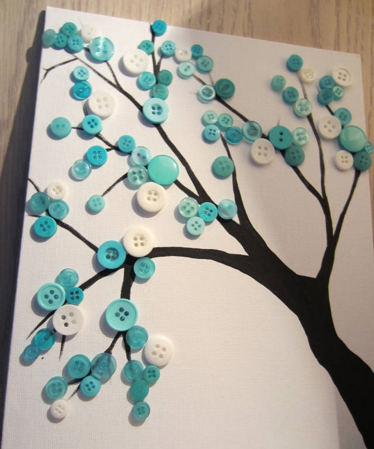Turquoise Button Tree