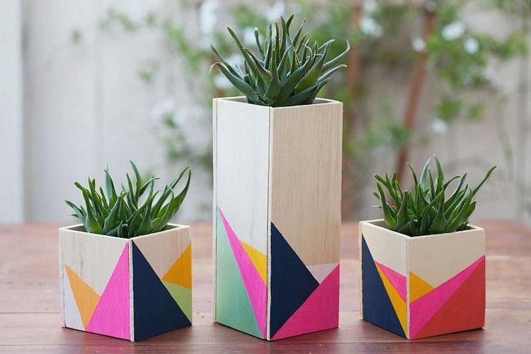 Wooden Centerpiece Boxes