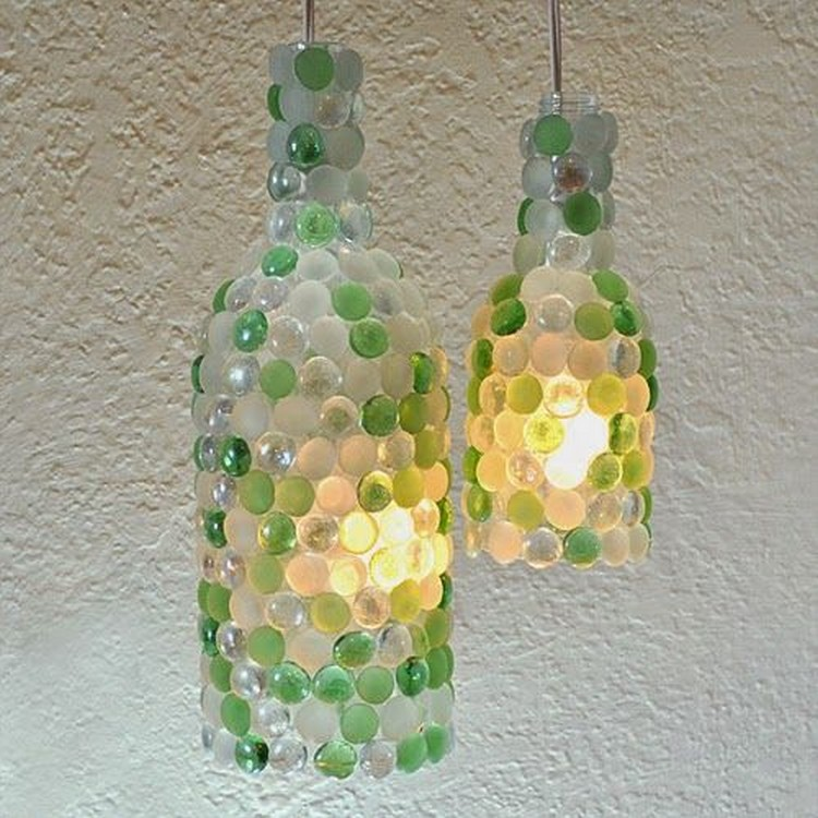 Bottle Pendant Lamps