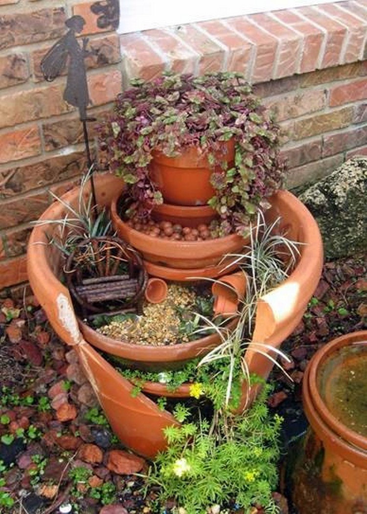 Broken Pot Layered Fairy Garden