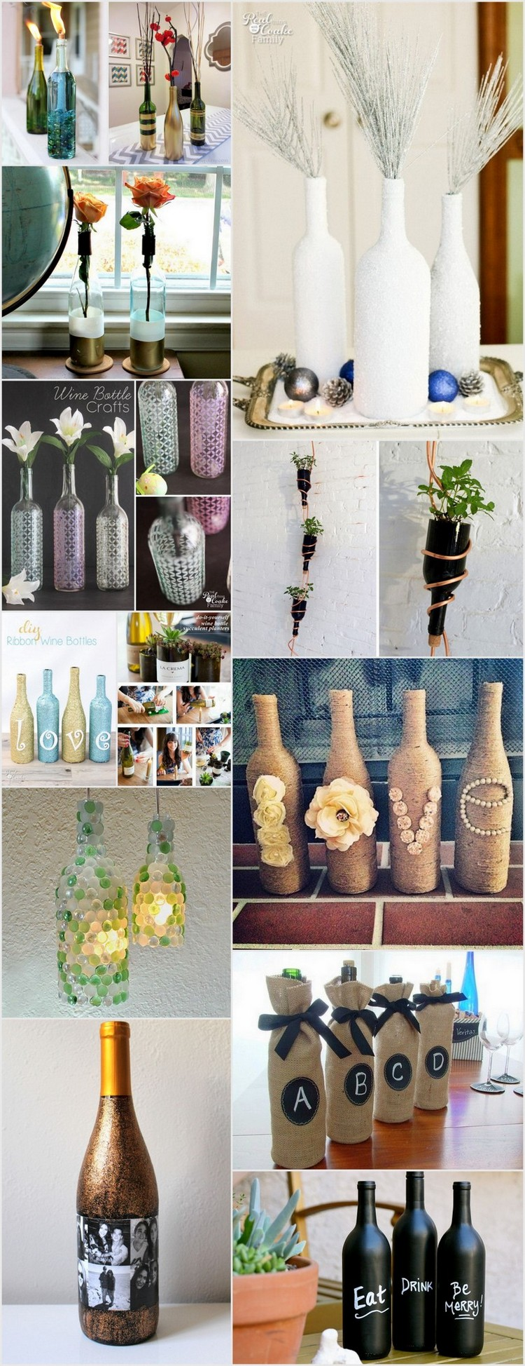 Creative DIY Wine Bottle Craft Ideas