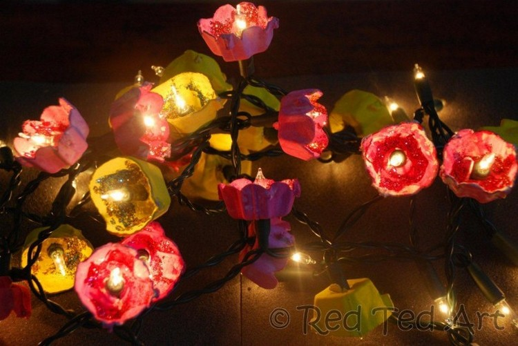 Egg Carton Blossom Fairy Lights