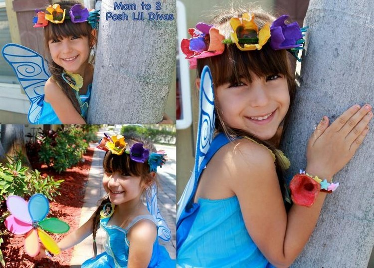 Egg Carton Floral Fairy Hair Wreath