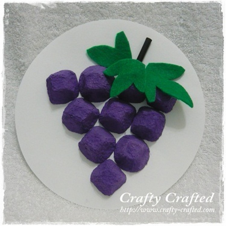 Egg Carton Grapes