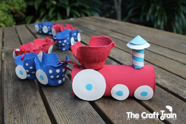 Egg Carton Train