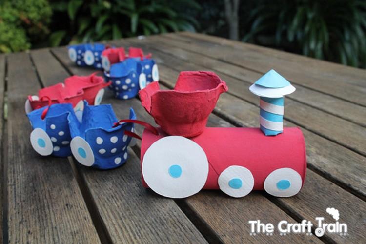 Egg Carton Train