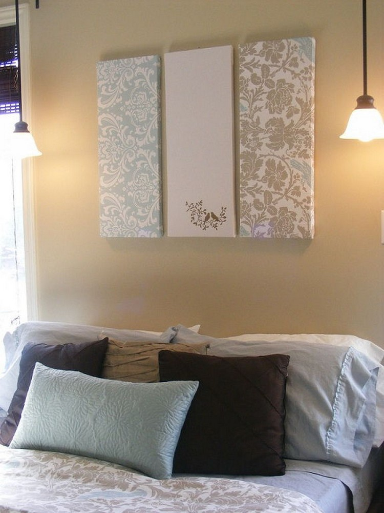 Creative diy wall art projects for your home recycled things for Fabric wall art