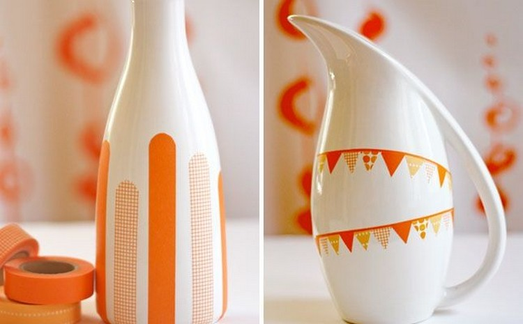 Orange Washi Tape Decor