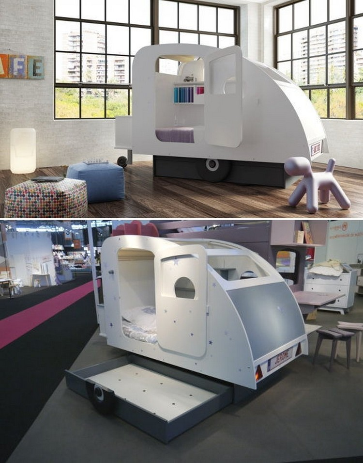 The Caravan Bed with Storage Helm