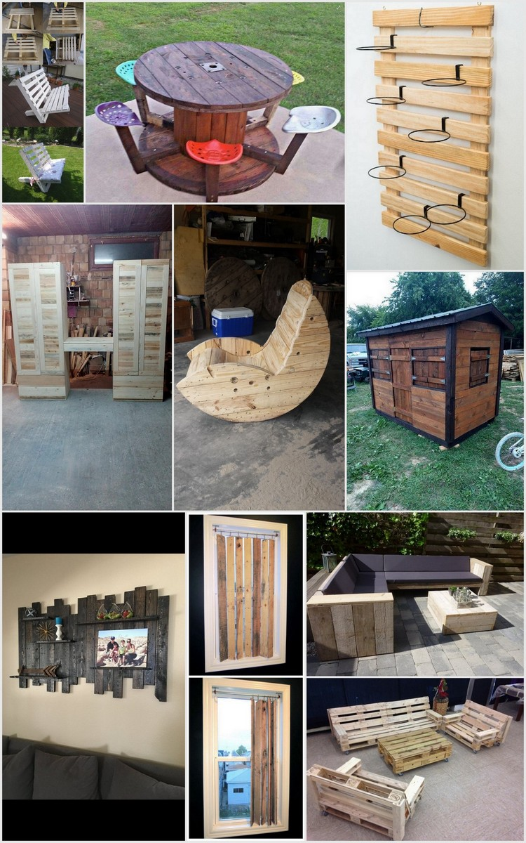 Things to make with old wooden pallets recycled things for Making things with wooden pallets