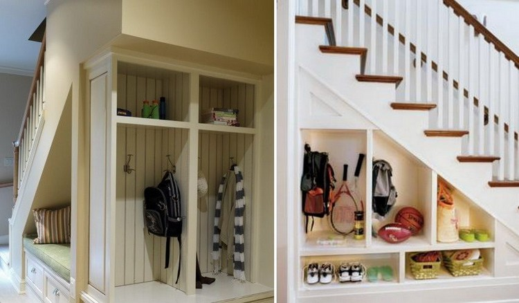 Use the space under the stairs