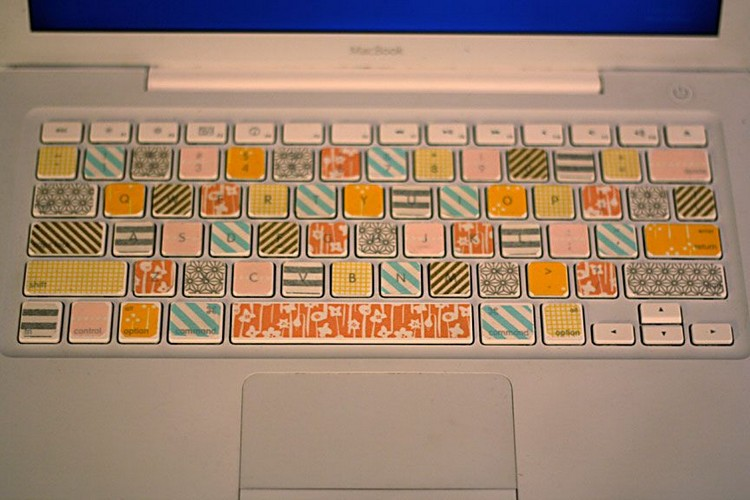 Washi Tape Laptop Keyboard