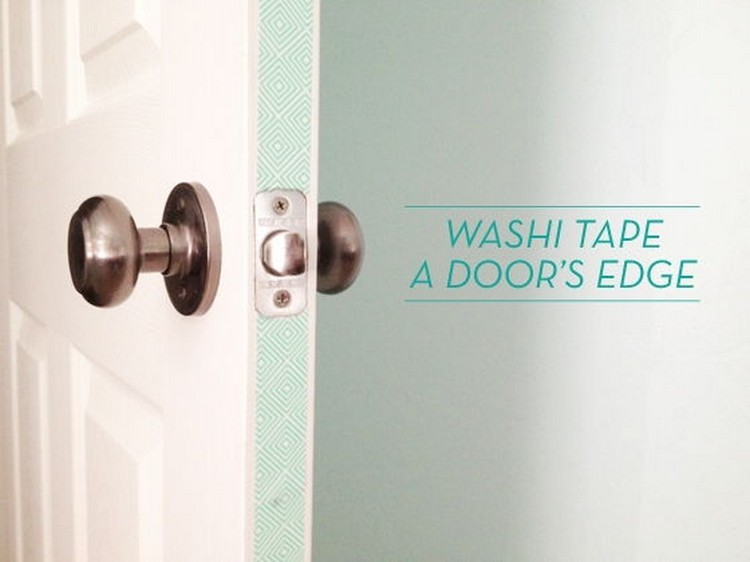Washi Tape Your Door Edges