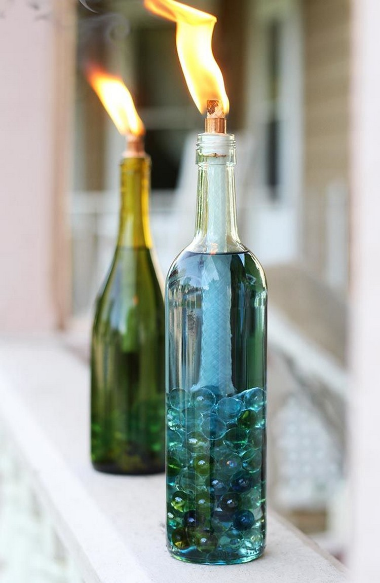 Creative diy wine bottle craft ideas recycled things for How to make wine bottle crafts