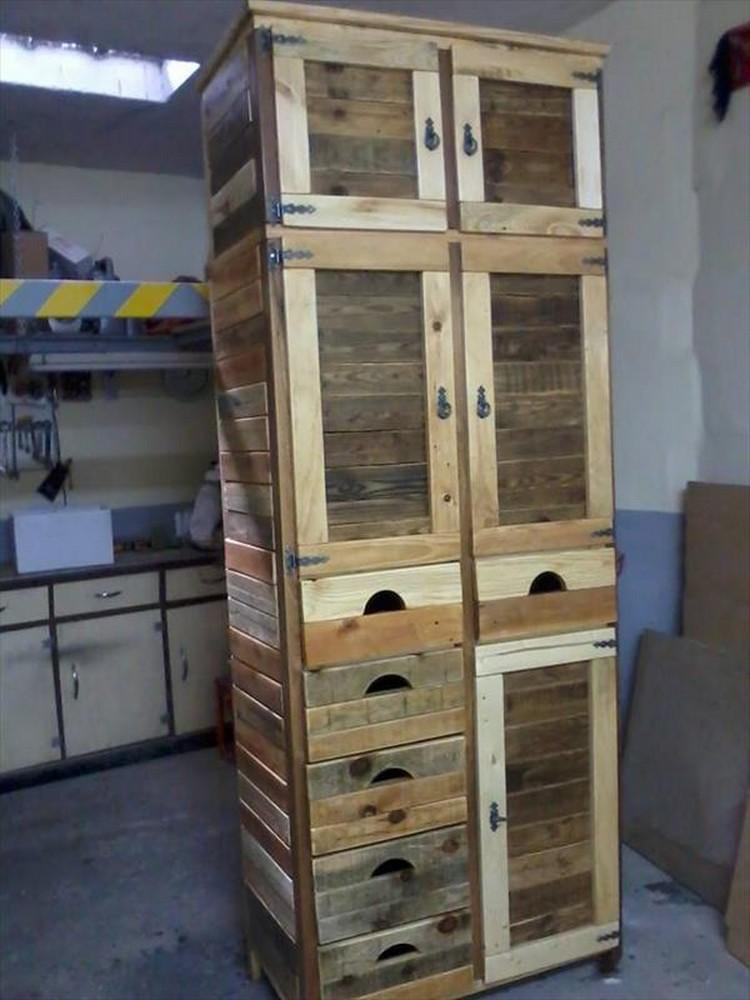 Wood Pallet Storage Cabinet