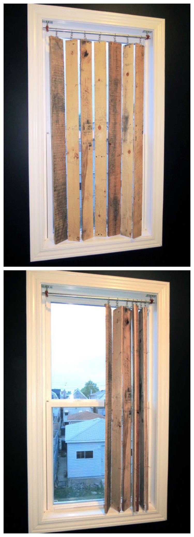 Wooden Pallet Blinds