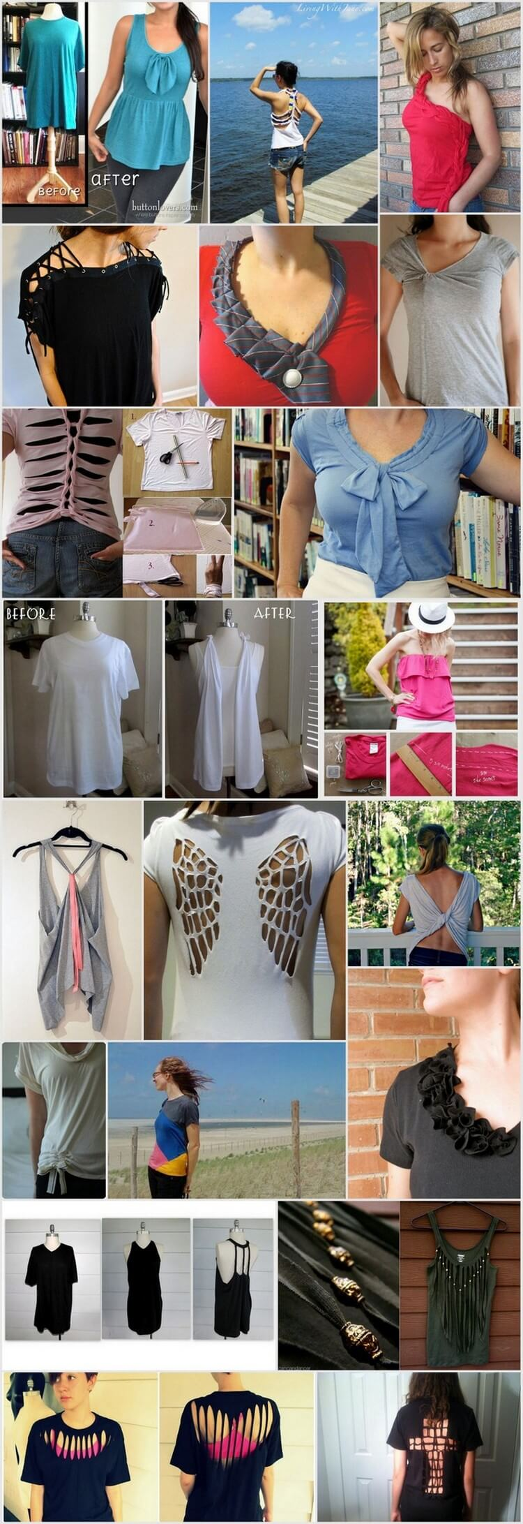 20 Awesome DIY Clothing Hacks to Refashion Your Clothes