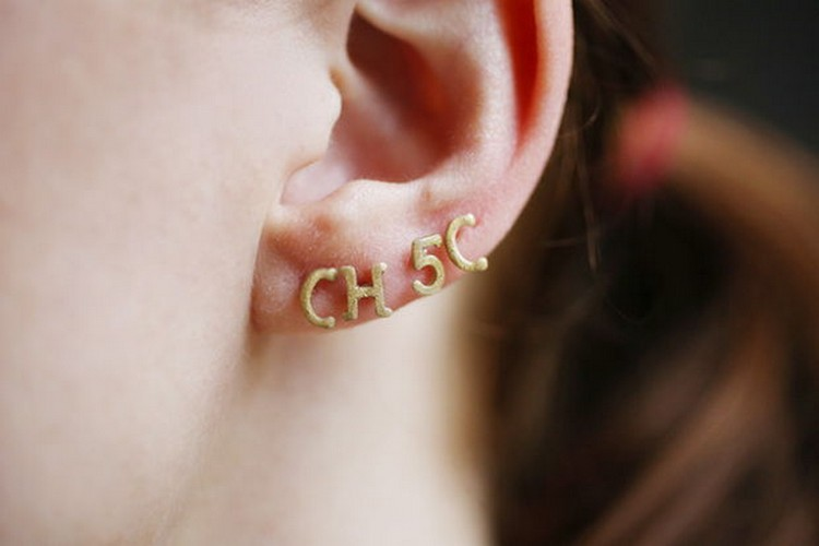 Alphabet Pasta Stud Earrings