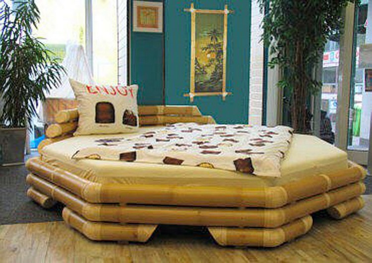 Bamboo Round Bed Idea