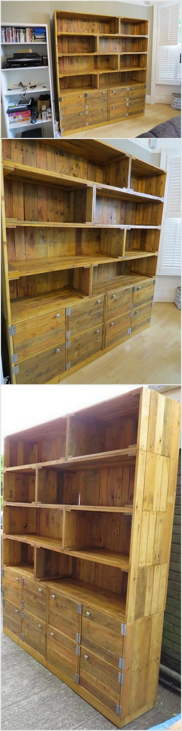 Big Pallet Shelving Unit and Cabinets