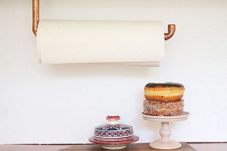 Copper Pipe Paper Towel Holder