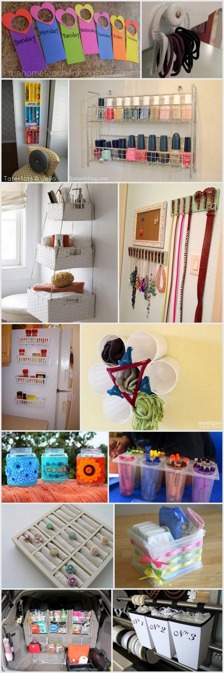 Creative diy projects in organizing your home using dollar Organizing your home