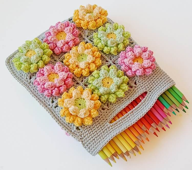 Crochet Pencil Box