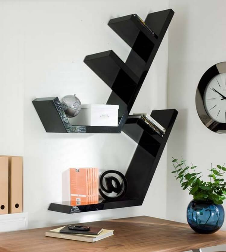 Functional and stylish wall shelf ideas recycled things for Open shelves design