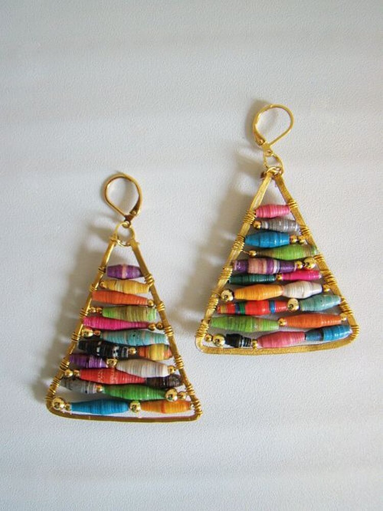 Hue Pyramid Earrings