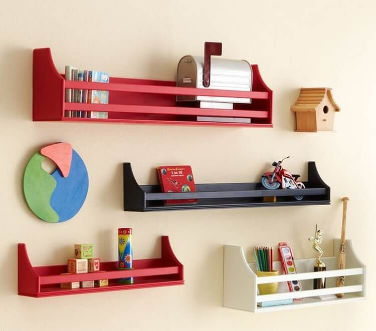 Kids Room Wall Shelf Ideas