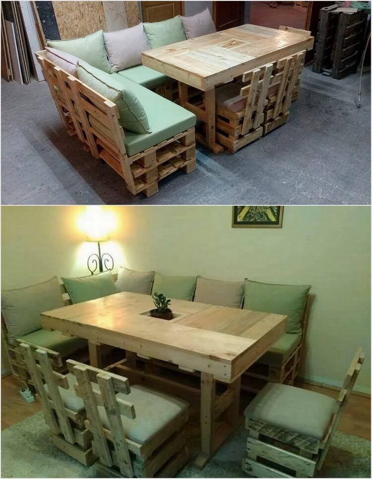 Old Wood Pallet Furniture Set