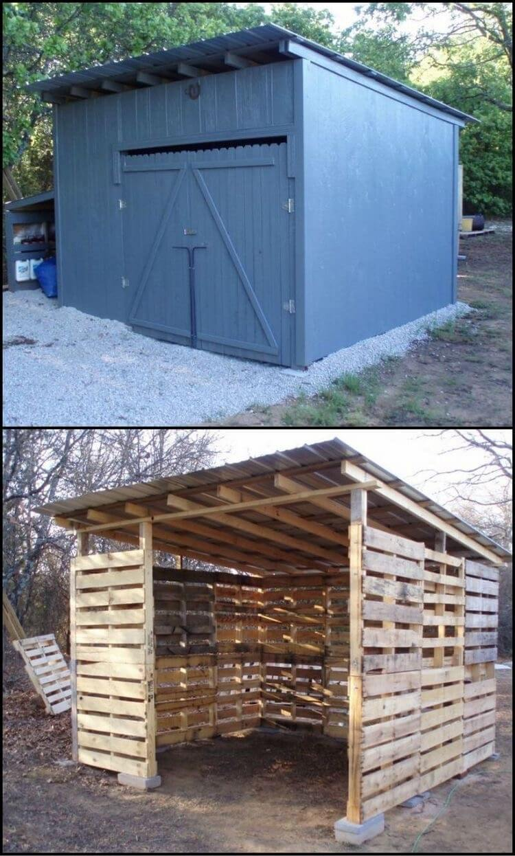 Pallet wood recycling ideas recycled things for How to build a pallet building