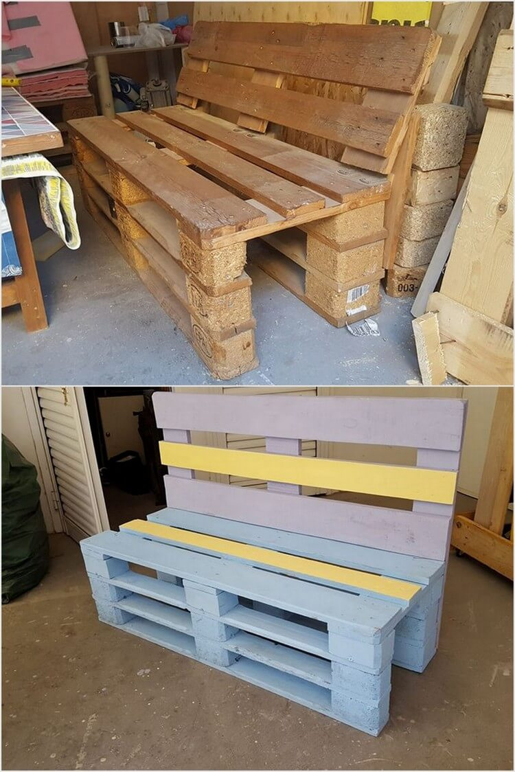 Amazing ideas for recycling old wood pallets recycled things for Making things with wooden pallets