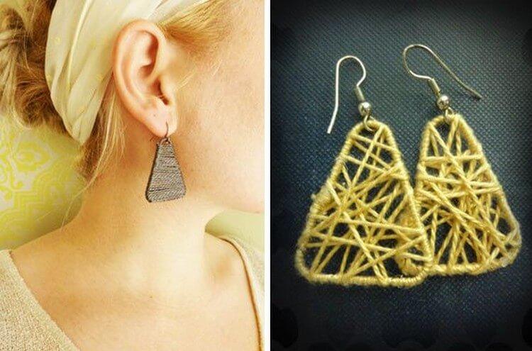 Paperclips + String Earrings
