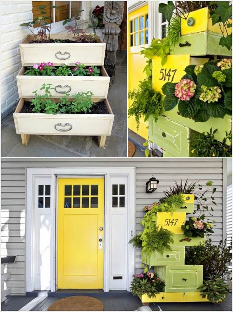 Planters Made with Used Drawers