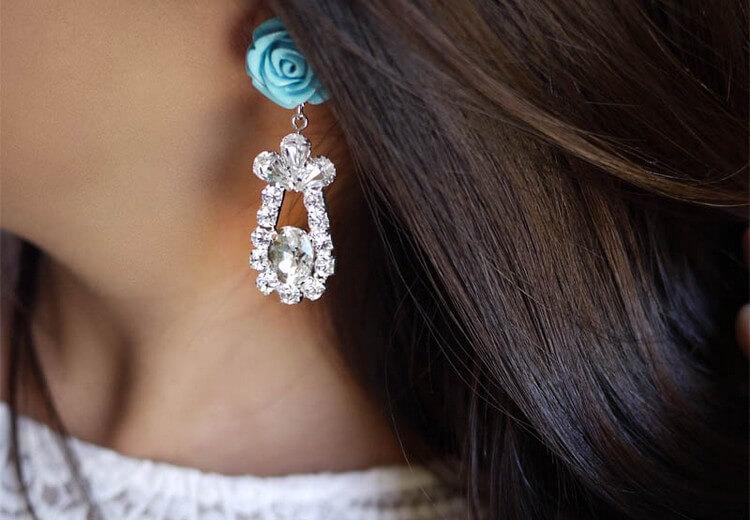 Prada Rose Earrings