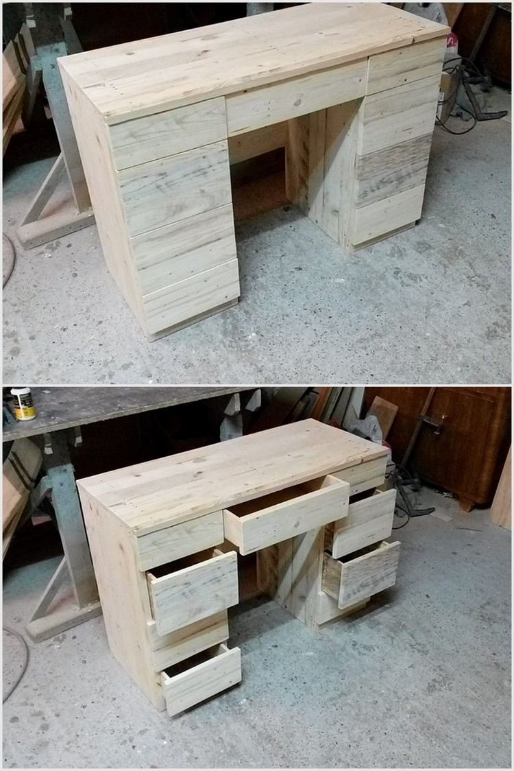 Recycled Pallet Office Table