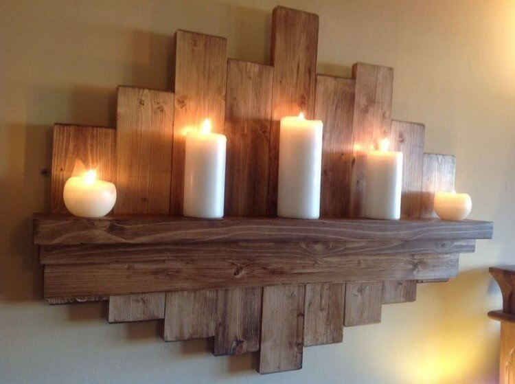 Recycled Wood Wall Shelf